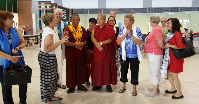 Welcome Group 3 with His Eminence Ling Rinpoche in Perth Airport on 20 Mar 2018