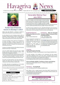HBC Newsletter 2014 Apr-Jun
