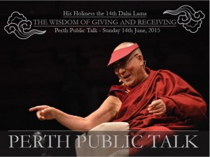 Dalai Lama in Australia - Perth Public Talk 14 June 2015 - Buy Tickets