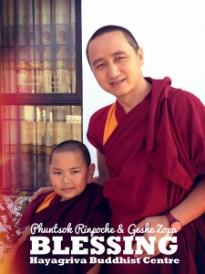 Picture of Phuntsok Rinpoche and Geshe Zopa