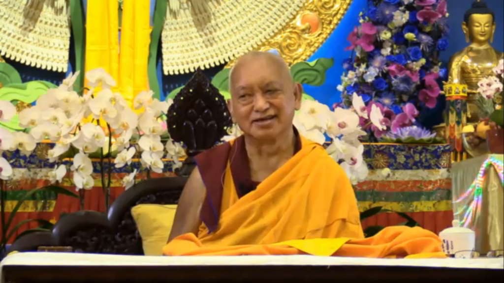 Kyabje Zopa Rinpoche teaching in Singapore on 6Mar2016
